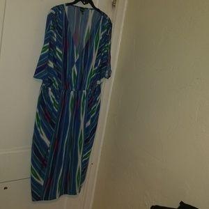 Rafaella stripe dress 2x